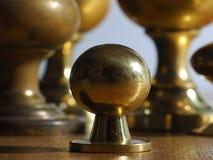 Botones de cobre amarillo viejos Fotografía de archivo libre de regalías