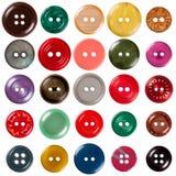 Botones de costura Imágenes de archivo libres de regalías