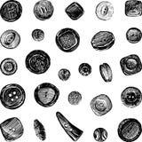Botones de costura Foto de archivo