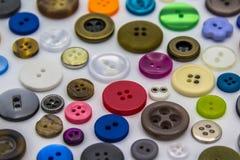 Botones de costura Fotos de archivo
