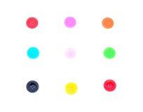 Botones de costura, botones plásticos Imágenes de archivo libres de regalías
