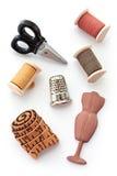 Botones de costura de la novedad Imagen de archivo libre de regalías