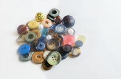 Botones de costura hermosos aislados Imagen de archivo libre de regalías