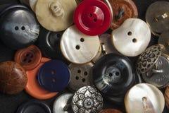 Botones de costura mezclados Imagen de archivo libre de regalías