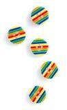 Botones de costura rayados brillantes Imagen de archivo libre de regalías