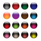 Botones de cristal stock de ilustración