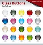 Botones de cristal Foto de archivo