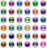 Botones de cristal Foto de archivo libre de regalías