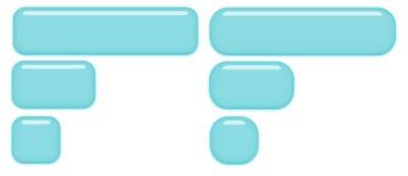 Botones de cristal azules Fotografía de archivo libre de regalías