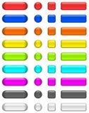 Botones de cristal brillantes Imagen de archivo libre de regalías