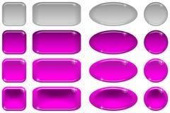 Botones de cristal, conjunto Imagenes de archivo
