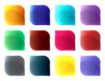Botones de cristal de diversos colores fijados libre illustration