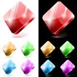 Botones de cristal de forma diamantada Fotos de archivo libres de regalías
