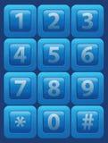 Botones de cristal del vector con números Imagenes de archivo