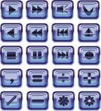 Botones de cristal del Web Imagen de archivo