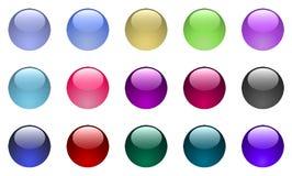 Botones de cristal grandes ilustración del vector