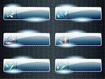 Botones de cristal transparentes rectangulares libre illustration