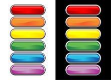 Botones de cristal vectoriales Fotografía de archivo