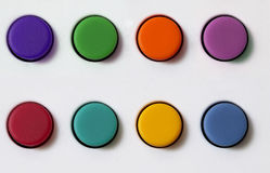 Botones de goma fijados Fotografía de archivo libre de regalías