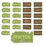 Botones de Grunge Foto de archivo