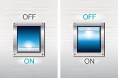 Botones de interruptor CON./DESC. Imagen de archivo libre de regalías