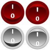 Botones de interruptor fijados Fotografía de archivo libre de regalías