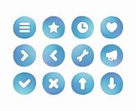 Botones de la acuarela Fotos de archivo libres de regalías