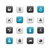 Botones de la aptitud Fotos de archivo