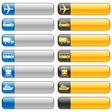 Botones de la bandera y iconos del transporte Fotos de archivo libres de regalías