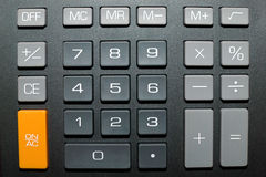 Botones de la calculadora Fotografía de archivo libre de regalías
