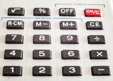 Botones de la calculadora Imagen de archivo libre de regalías