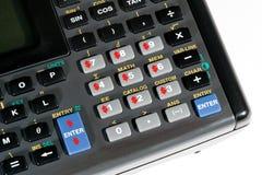 Botones de la calculadora con las muestras de dólar Fotografía de archivo libre de regalías