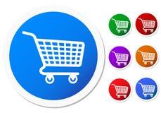 Botones de la cesta de compras Foto de archivo libre de regalías