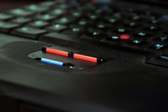 Botones de la computadora portátil Imagen de archivo