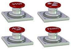 Botones de la emergencia Imagen de archivo