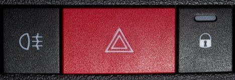 Botones de la emergencia del coche Imagen de archivo libre de regalías