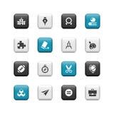 Botones de la escuela y de la educación Imagenes de archivo