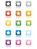 Botones de la estrella Imagenes de archivo