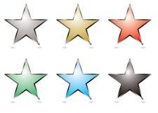 Botones de la estrella Imagen de archivo libre de regalías