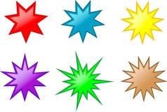 Botones de la estrella Fotos de archivo