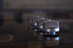 Botones de la estufa Fotografía de archivo