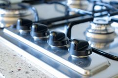 Botones de la estufa Fotografía de archivo libre de regalías