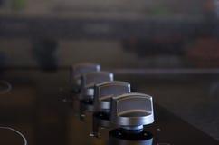 Botones de la estufa Fotos de archivo libres de regalías