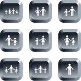 Botones de la familia Fotografía de archivo libre de regalías