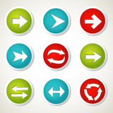 Botones de la flecha Imagenes de archivo