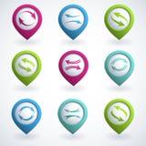 Botones de la flecha Imagen de archivo