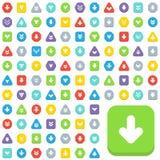 Botones de la flecha Imágenes de archivo libres de regalías