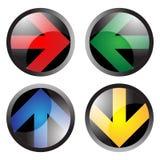 Botones de la flecha Fotografía de archivo