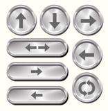 Botones de la flecha del metal libre illustration