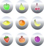 Botones de la fruta Imagenes de archivo